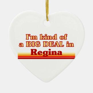 Ornement Cœur En Céramique Je suis un peu une affaire en Regina