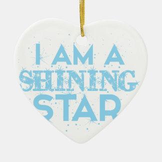 Ornement Cœur En Céramique Je suis une étoile brillante