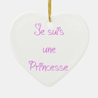 Ornement Cœur En Céramique Je suis une princesse