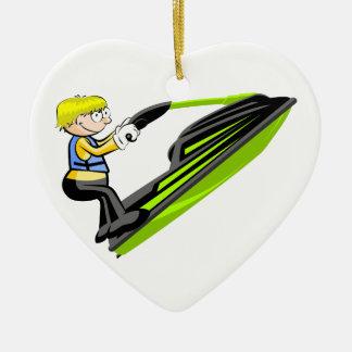 Ornement Cœur En Céramique Jet ski fan