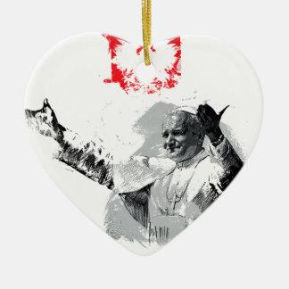 Ornement Cœur En Céramique John Paul le deuxième