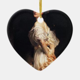 Ornement Cœur En Céramique John Singer Sargent - Nancy Astor - beaux-arts