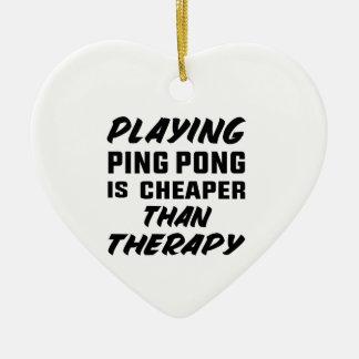 Ornement Cœur En Céramique Jouer au ping-pong est meilleur marché que la