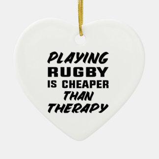 Ornement Cœur En Céramique Jouer au rugby est meilleur marché que la thérapie