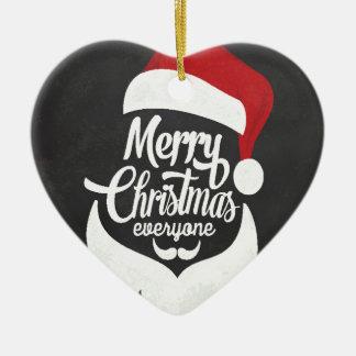 Ornement Cœur En Céramique Joyeux Noël de T-shirt