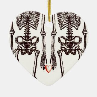 Ornement Cœur En Céramique Jusqu'à la mort faites-nous partie