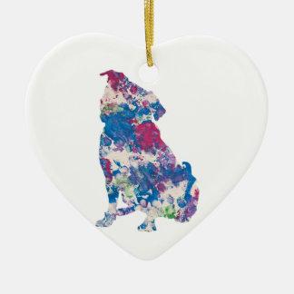 Ornement Cœur En Céramique Juste pour l'oeuvre d'art de Gina à côté de