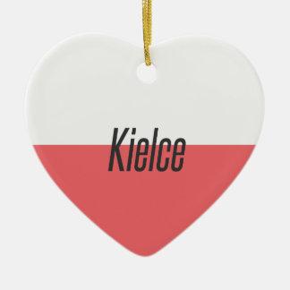 Ornement Cœur En Céramique Kielce