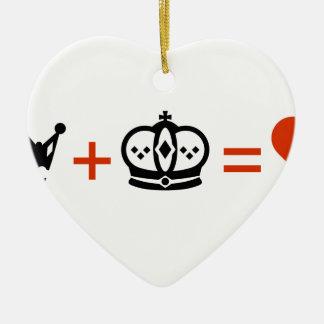 Ornement Cœur En Céramique king_plus_queen_equals_love2.ai