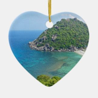 Ornement Cœur En Céramique KOH Tao Thaïlande