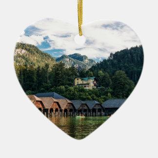 Ornement Cœur En Céramique Konigssee, lac des rois. L'Allemagne