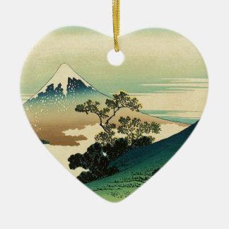 Ornement Cœur En Céramique Koshu Inume Toge - art de Katsushika Hokusai