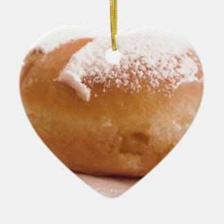 Ornement Cœur En Céramique Krapfen simple (beignet italien)
