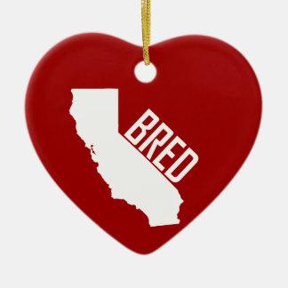 Ornement Cœur En Céramique La Californie a multiplié