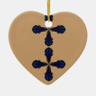 Ornement Cœur En Céramique La conception s'envole le bio regard d'ethno