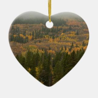 Ornement Cœur En Céramique La couleur dans le Colorado coloré