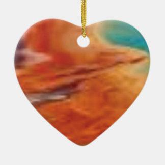 Ornement Cœur En Céramique la couleur mélangent dedans la palette de natures