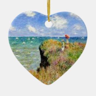 Ornement Cœur En Céramique La falaise de Pourville de Claude Monet