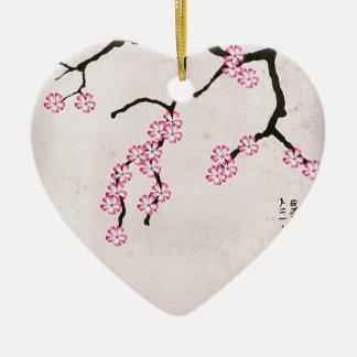 Ornement Cœur En Céramique la fleur antique 3 des fernandes élégants