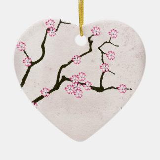 Ornement Cœur En Céramique la fleur antique 4 des fernandes élégants