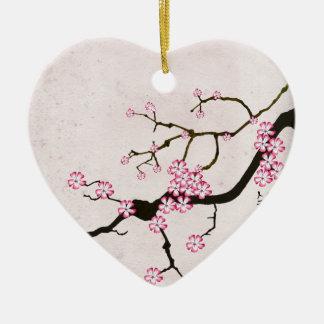 Ornement Cœur En Céramique la fleur antique 5 des fernandes élégants