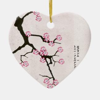 Ornement Cœur En Céramique la fleur antique 6 des fernandes élégants
