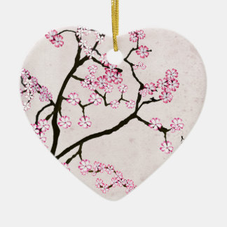 Ornement Cœur En Céramique la fleur antique 7 des fernandes élégants