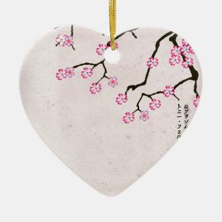 Ornement Cœur En Céramique la fleur antique 8 des fernandes élégants