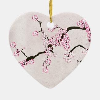 Ornement Cœur En Céramique la fleur antique 9 des fernandes élégants