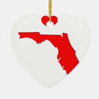 Ornement Cœur En Céramique La Floride