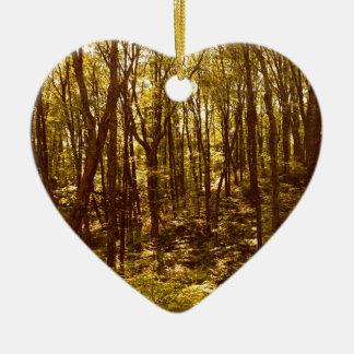 Ornement Cœur En Céramique La forêt montre du doigt