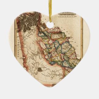 Ornement Cœur En Céramique La Géorgie 1817