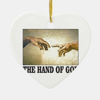 Ornement Cœur En Céramique la main d'un dieu