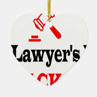 Ornement Cœur En Céramique La maman de l'avocat
