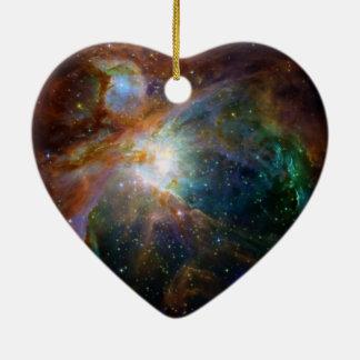 Ornement Cœur En Céramique La NASA brun-rougeâtre de nébuleuse d'Orion