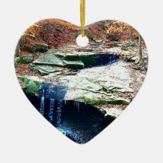 Ornement Cœur En Céramique La poule bleue tombe parc national Ohio de