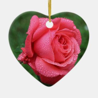 Ornement Cœur En Céramique La Rose