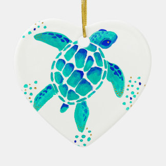 Ornement Cœur En Céramique La tortue de Neptune