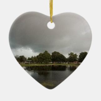 Ornement Cœur En Céramique lac