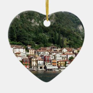 Ornement Cœur En Céramique Lac Como