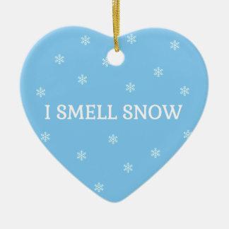 Ornement Cœur En Céramique L'amant de neige