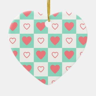 Ornement Cœur En Céramique L'amour, Valentine, jour, coeur, femmes, rose,