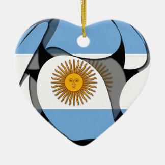 Ornement Cœur En Céramique L'Argentine #1