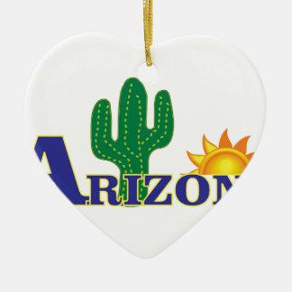 Ornement Cœur En Céramique l'Arizona bleu