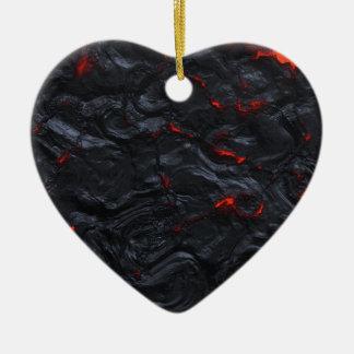 Ornement Cœur En Céramique lave i vous pendants