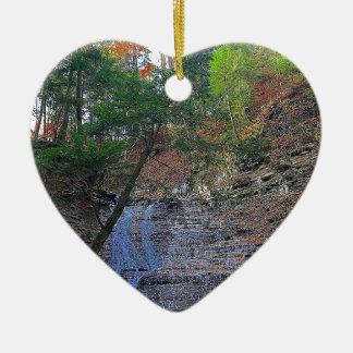 Ornement Cœur En Céramique Le babeurre tombe parc national Ohio de Cuyahoga