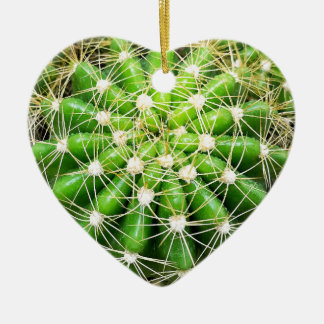 Ornement Cœur En Céramique Le cactus Dble-a dégrossi coeur Ornanent