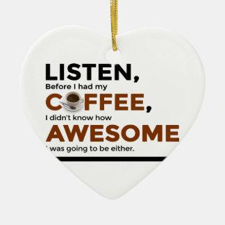 Ornement Cœur En Céramique Le café de boissons soit impressionnant