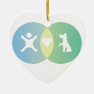 Ornement Cœur En Céramique Le coeur de personnes poursuit le diagramme de