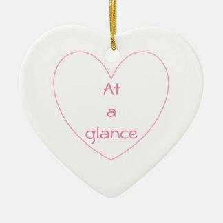 Ornement Cœur En Céramique Le coeur mignon et beau marque avec des lettres